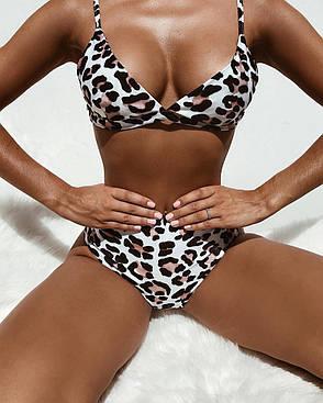 Купальник роздільний леопардовий, фото 2