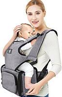 Слинг-рюкзак кенгуру эргономичный рюкзак Unihope для переноски детей