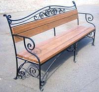 """Лавочка садовая уличная """"Вензель"""" (скамейка для беседки, для дома, для дачи)"""