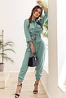 Модный женский костюм двойка (рубашка + брюки) с 42 по 46 рр ткань - киви, фото 1