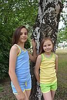 Комплект детский голубые шорты желтая майка, фото 3