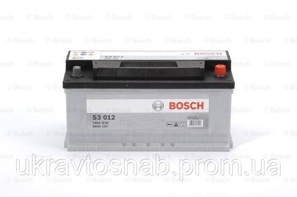 Акумуляторна батарея BOSCH 0092S30120 S3 ПРАВИЙ [+] 12V 88AH 740A 353*175*175