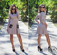 Бежевое платье 152027