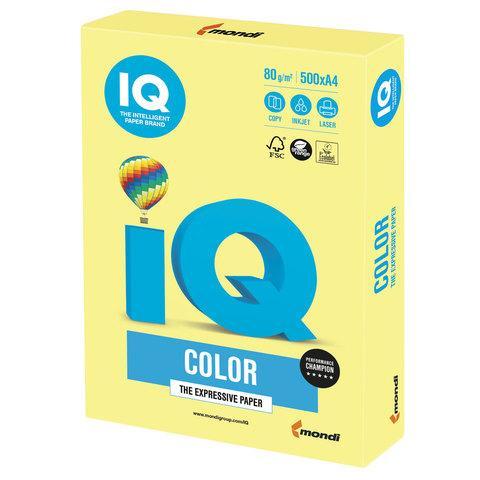 Бумага А4 IQ Color ZG34 Lemon Yellow желтый