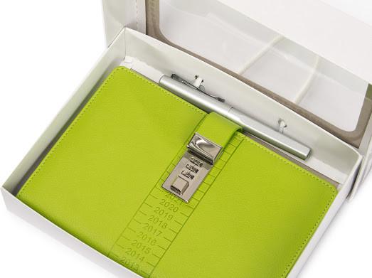 Блокнот-ежедневник с кодовым замком CAGIE Biz 96 Зеленый NA-56894