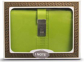 Блокнот-ежедневник с кодовым замком CAGIE Biz 96 Зеленый NA-56894, фото 3