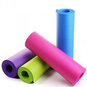 Коврик каремат для йоги фитнеса и спорта 61х173 см толщина 0,5 см 50735