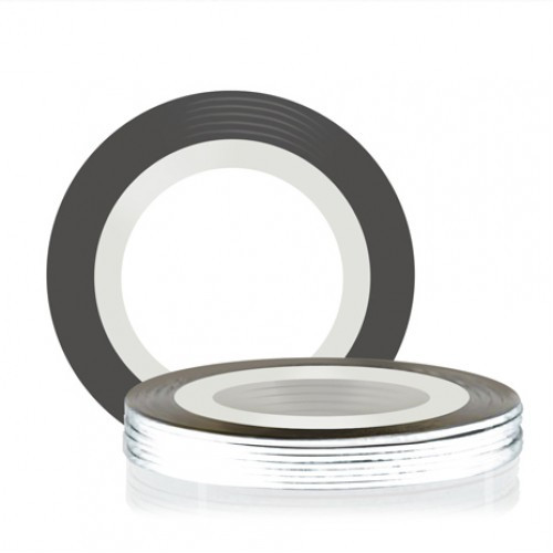 Лента для декора клеевая серебряная AVENIR Cosmetics 1 мм
