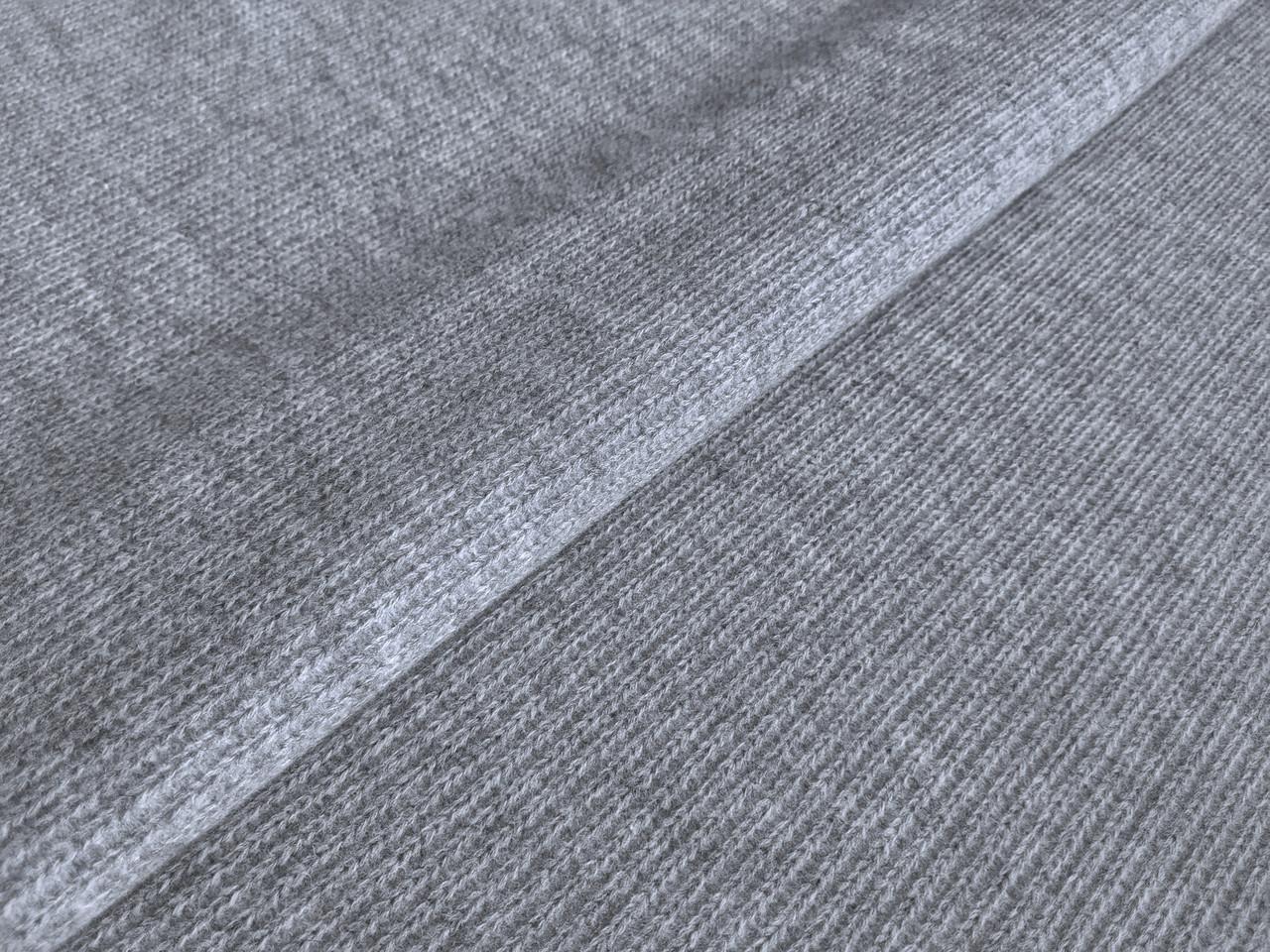 Шерсть пальтовая косичка, серый