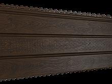 Софит U-plast PRO с центральной перфорацией орех темный (подшивка крыши)
