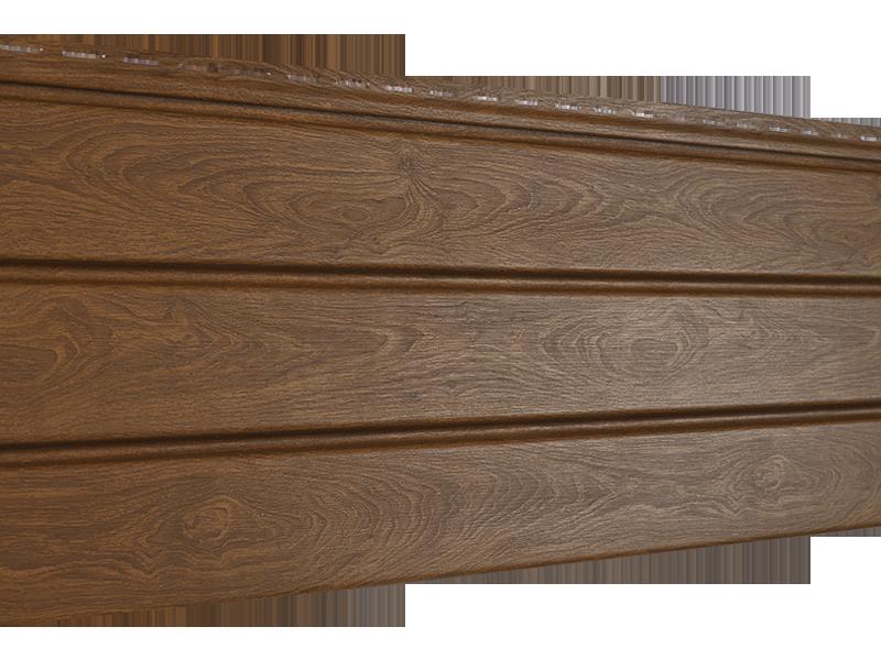 Софит U-plast PRO сплошной дуб золотой  (подшивка крыши)