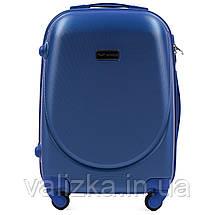 Комплект пластиковых чемоданов 3 шт:  малый, средний, большой с фурнитурой в цвет синие Wings k310, фото 2