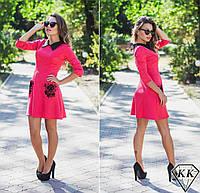 Коралловое платье 152027