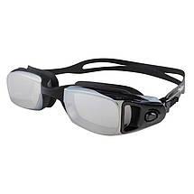 Очки Dolvor для подводного плавания, зеркалка, нос гибкий, цвета черный, синий, фото 2