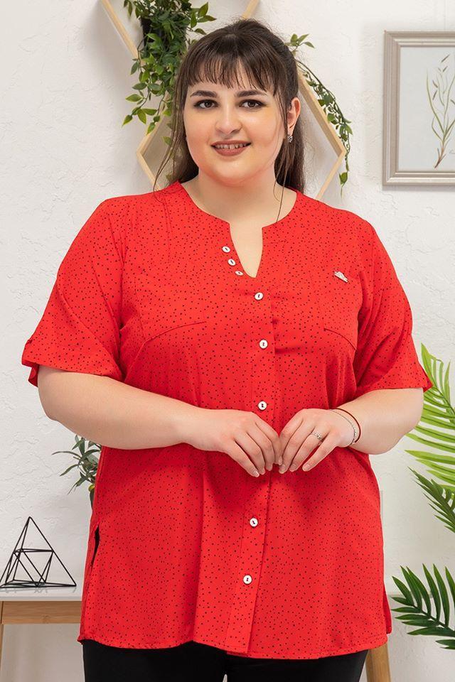 Рубашка Рената красный