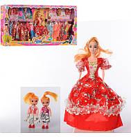 Кукла с нарядом, 26см, дочки 2шт, 10см, D61