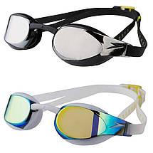 Детские очки для плавания Speedo, цвета белый, черный, фото 2