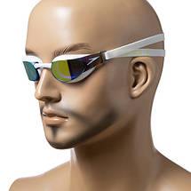 Детские очки для плавания Speedo, цвета белый, черный, фото 3