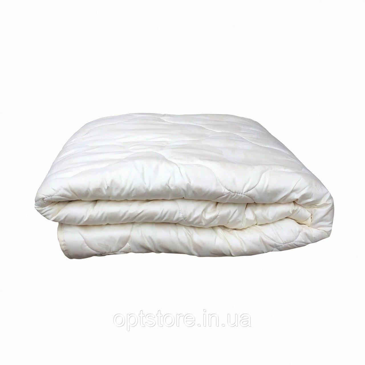 """""""Біле""""Ковдра полуторна холлофайбер,розмір 140*210, тканина мікрофібра"""