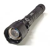 Фонарь аккумуляторный тактический мощный 1000м. подствольный светодиод P50 Police Черный, фото 3