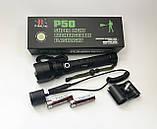Фонарь аккумуляторный тактический мощный 1000м. подствольный светодиод P50 Police Черный, фото 9
