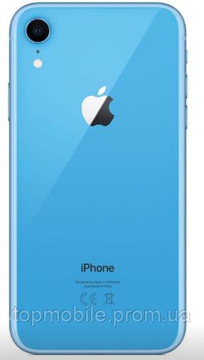 Задняя крышка для iPhone XR, синяя, оригинал (Китай), в комплекте стекло камеры