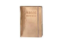 "Блокнот ""Magic moments"" на поролоне, на резинке, А6, клетка, 144 листа, розово-золотой, WB-6198"