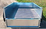 Оцинкованный одноосный бортовой прицеп для легкового авто 15PB1120, фото 7