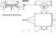 Оцинкованный одноосный бортовой прицеп для легкового авто 15PB1120, фото 4