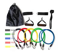 Универсальный набор трубчатых эспандеров из 5шт для упражнений + чехол