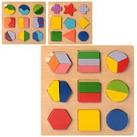 Деревянная игрушка Геометрика фигуры, микс видов, MD2343