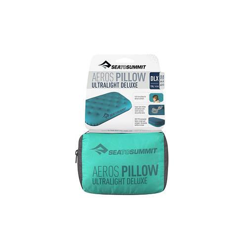 Надувна подушка Sea To Summit Aeros Ultralight Pillow Deluxe Teal, фото 2