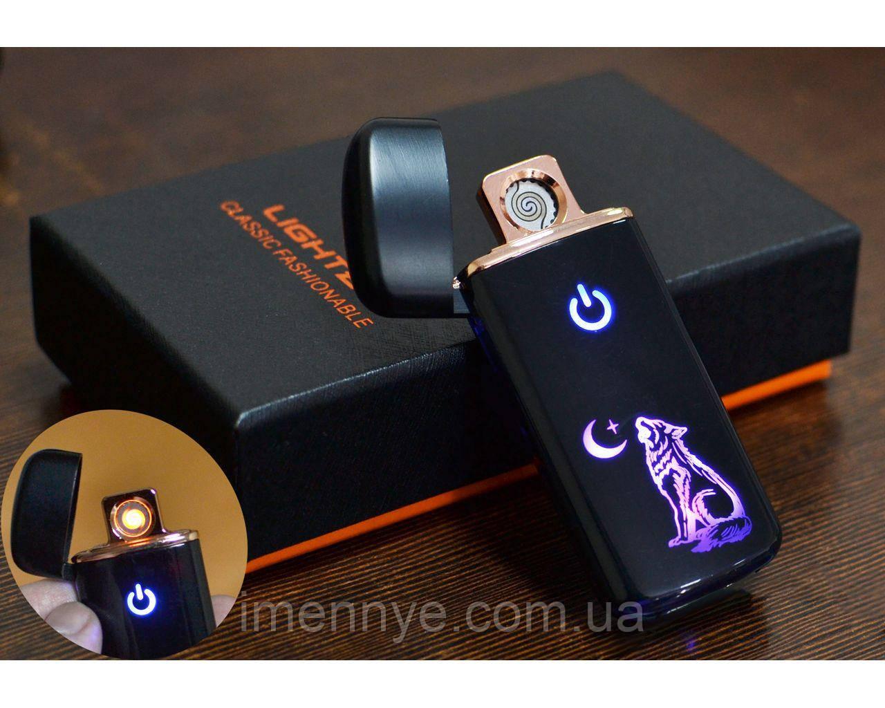 Именная USB зажигалка в подарочной коробке