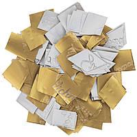 Конфетти-Метафан ЛК225 Золото-Белый Матовый 2х2 1кг, фото 1