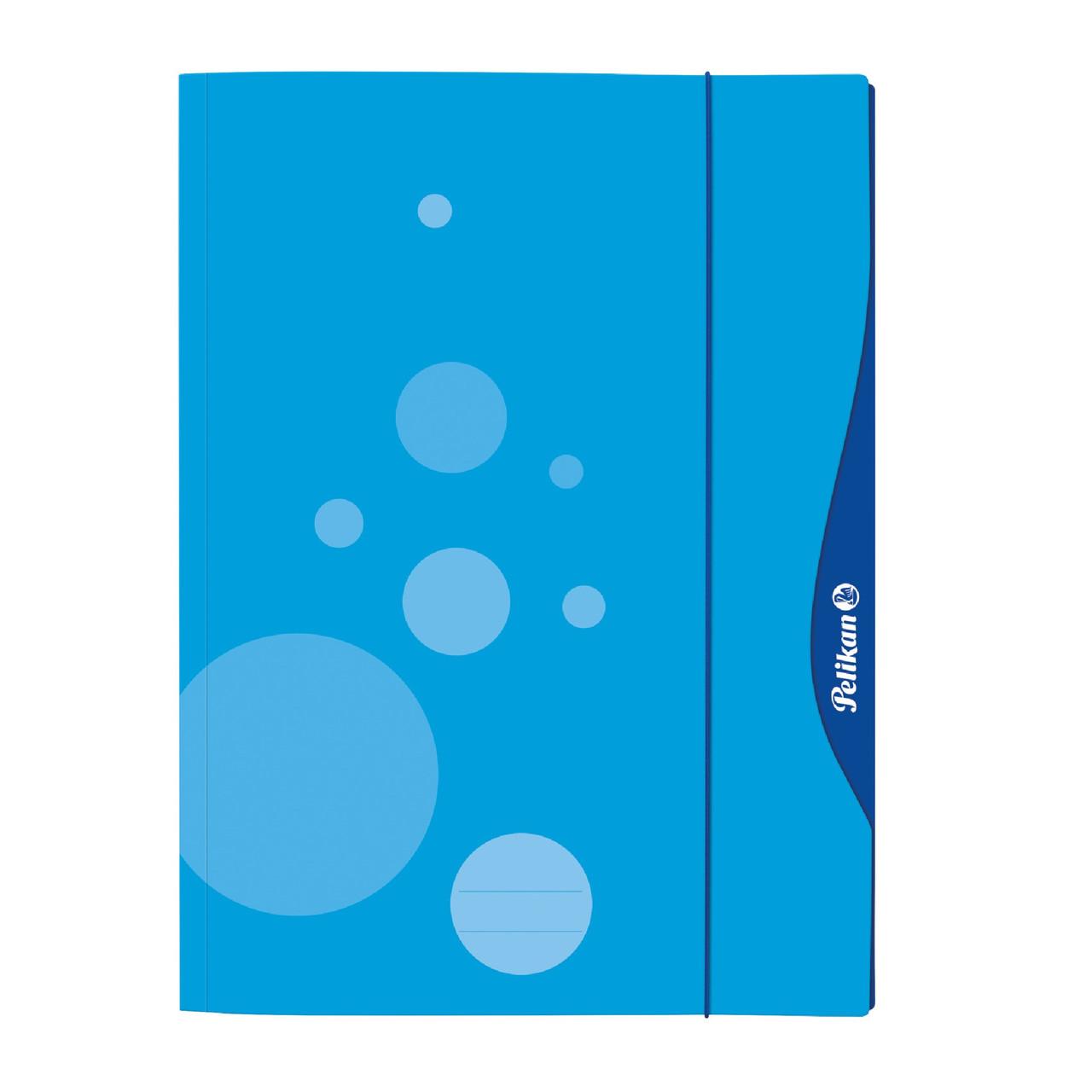Папка картонна на гумці А3 Pelikan Quick Open блакитна