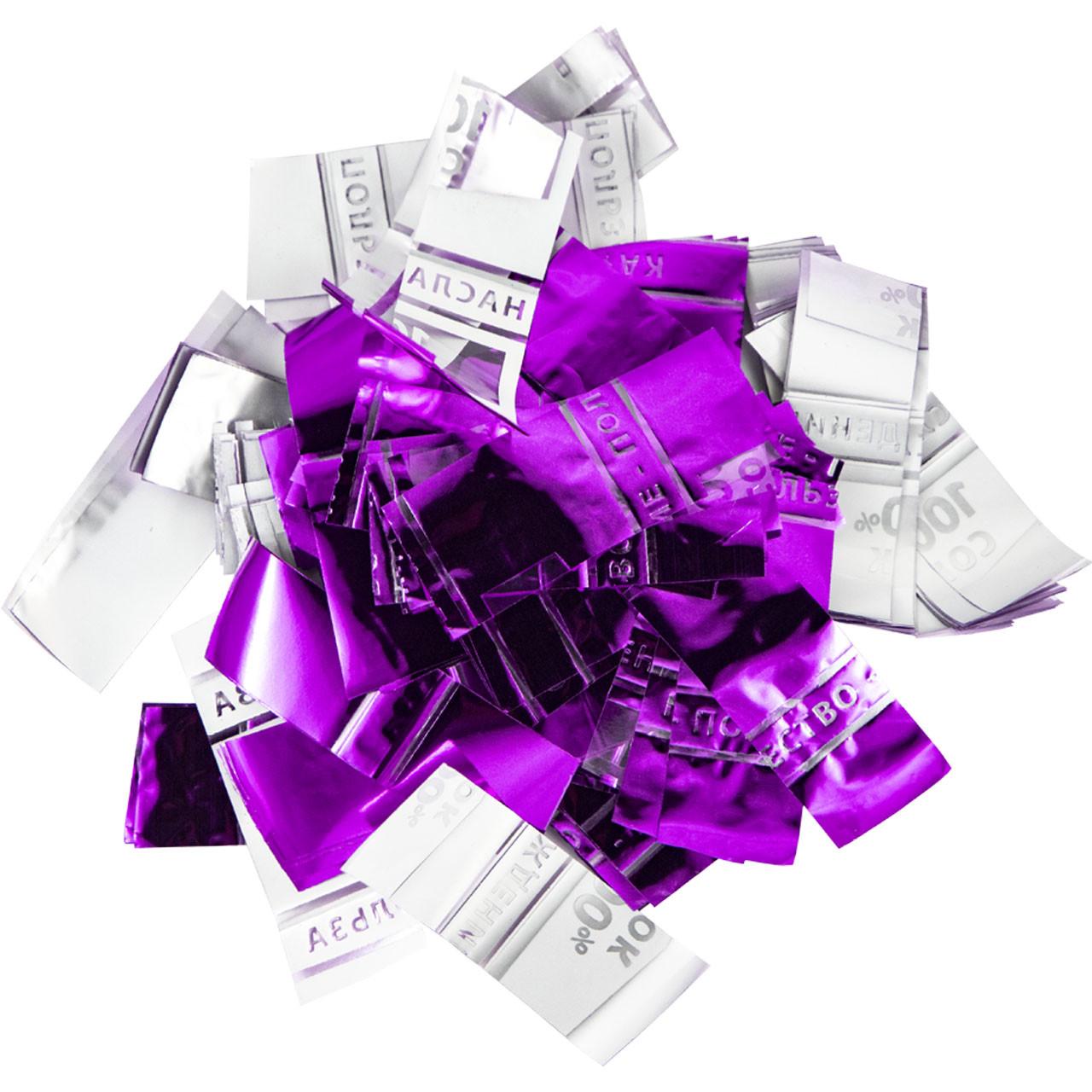 Конфетти-Метафан ЛК607 Фиолетово-Белое 2х6 1кг