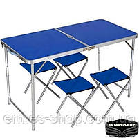 Складной туристический стол Folding Table Convenient to Take | 4 стула, фото 3