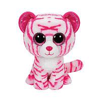Мягкая игрушка TY Beanie Boo's Тигренок Asia, розовый, 25 см, 36823