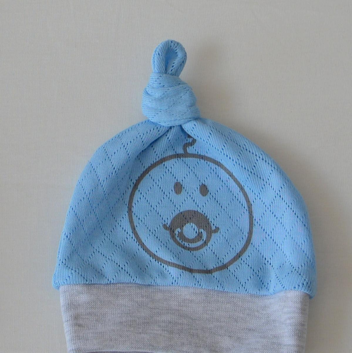 Шапочка-узелок Baby Veres Smile blue