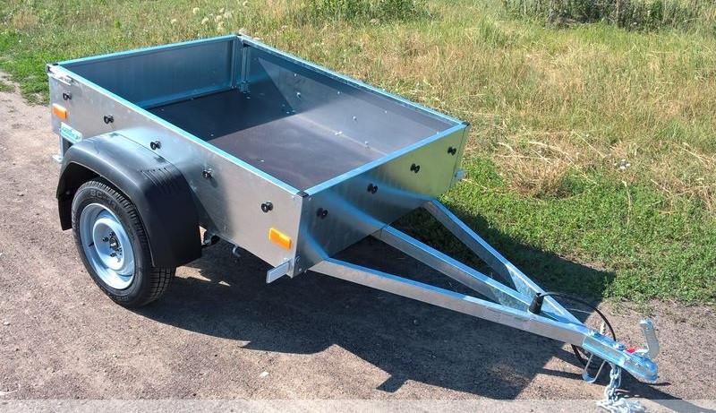 Оцинкованный одноосный бортовой прицеп для легкового авто 232PB1122