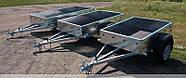 Оцинкованный одноосный бортовой прицеп для легкового авто 232PB1122, фото 7