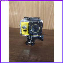 Экшн камера A7 Sport с аквабоксом +Крепление на руль/шлем и защита