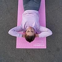 Килимок для фітнесу і йоги PowerPlay 4010 (173*61*0.4) Розовий