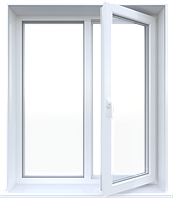 Металлопластиковое окно Steko двухстворчатое поворотно-откидное 1280 х 1400 мм Белый S300IKJHFBYT, КОД: 765907