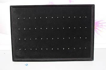 Демонстрационный переносной стойка планшет для пирсинга черный на 52 шт