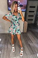 Комбінезон жіночий шортами модний крій М'ята, фото 1