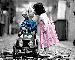 Картина по номерам Первый поцелуй (BK-GX22639) 40 х 50 см (Без коробки)