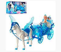 Карета с лошадью и куклой Bambi М-6903158465018, КОД: 1525090