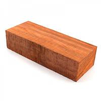 Брусок для рукоятки ножа древесина Падук 125х50х29