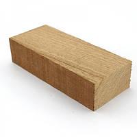 Брусок для рукоятки ножа древесина Сапеле 125х50х29